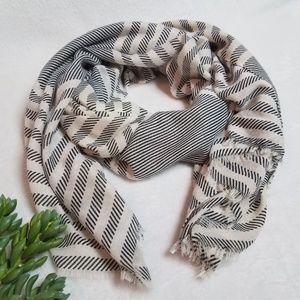 Striped Lightweight Blanket Scarf